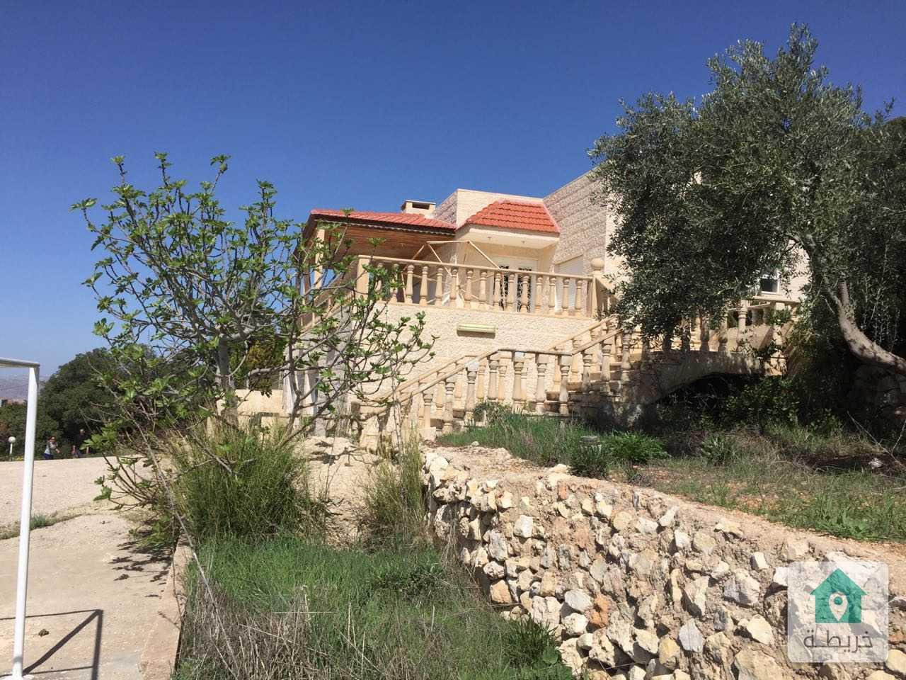 شبه ڤيلا حجر بإطلالة مميزة جدا على فلسطين بمنطقة منتزه زي