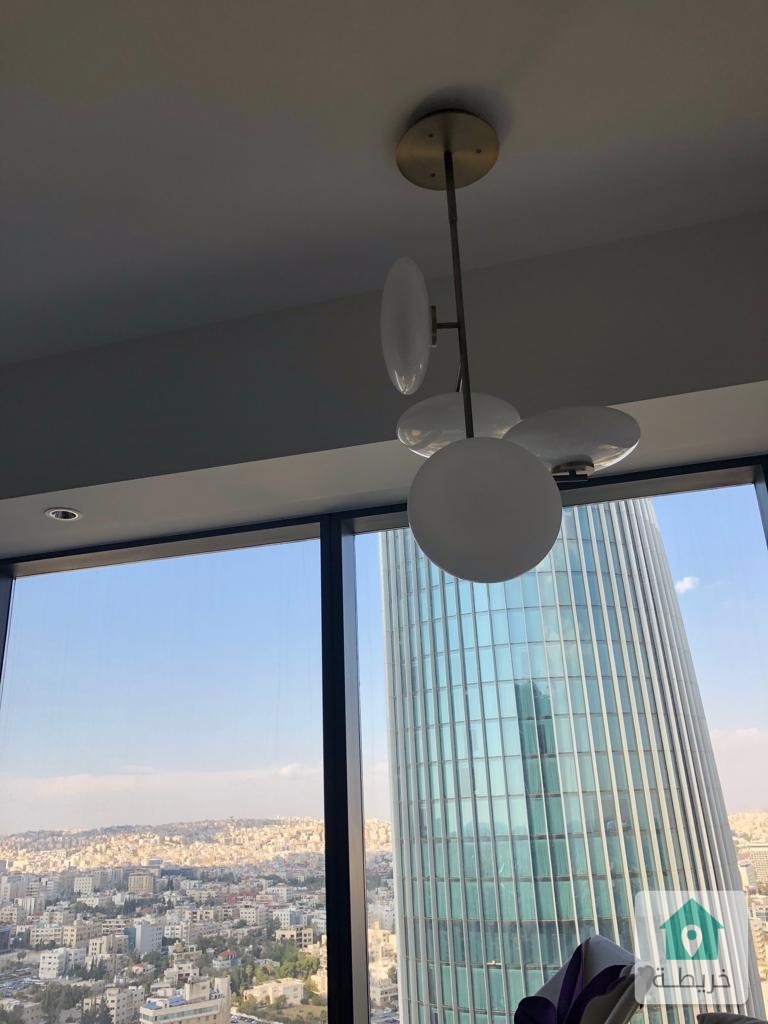 شقة مفروشة في برج W في البوليفار العبدلي مساحة ٩٠ متر مربع على الطابق ٣٣