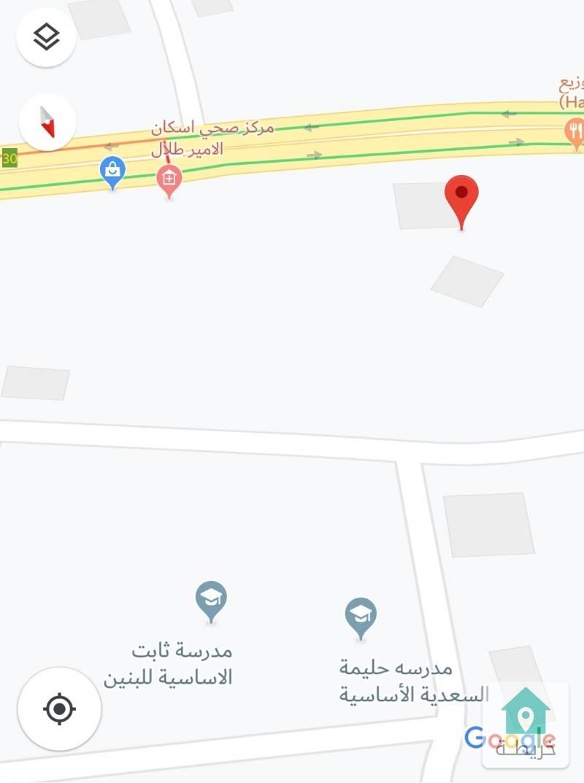 ارض للبيع مساحه ٥٢٠ متر تقريبا في منطقه الرصيفه / اسكان الامير طلال