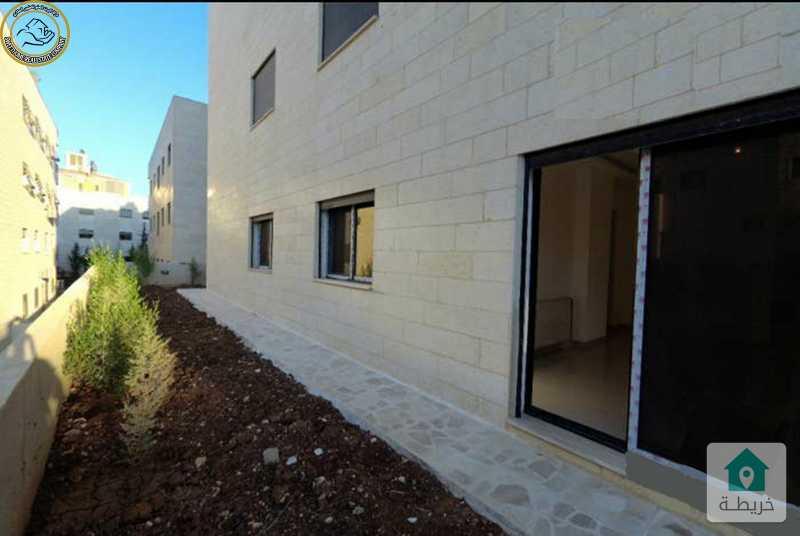 شقة ارضية مميزة للبيع في السابع 150م مع حديقة وترسات 150م لم تسكن