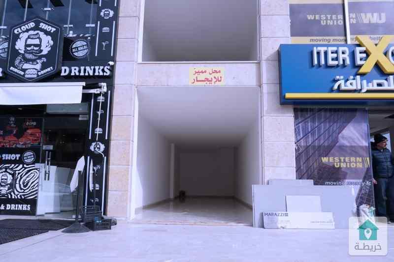 محل تجاري للايجار شارع عبدلله غوشه 36م شركة رائد خلف للاسكان
