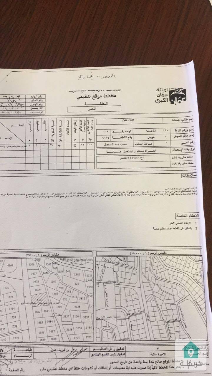ارض تجاري طولي سكني موقع حيوي للبيع في جبل النصر مقابل المؤسسه العسكرية