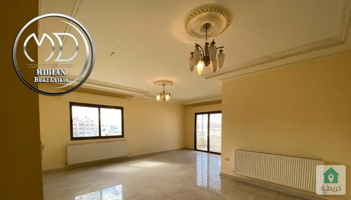 شقة فارغة للايجار الرابية قرب السفارة الاسرائيلية مساحه 190م طابق ثالث تشطيب سوبر ديلوكس