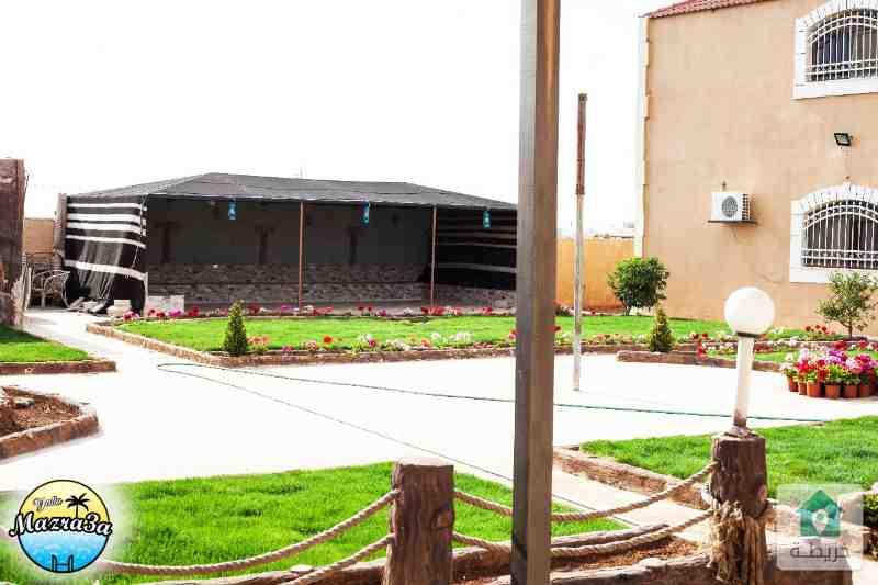 مزرعة فاخرة للايجار في طريق المطار