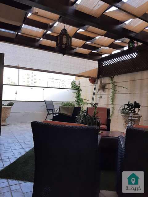 شقة للبيع تلاع العلى 200م موقع هادىء مع حديقة وترسات 200م تشطيبات فاخرة