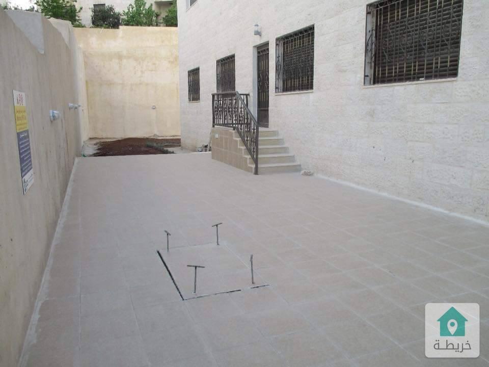شقة ارضية فاخرة للبيع في خلدا منطقة فلل مميز جدا ارضي مع حديقة