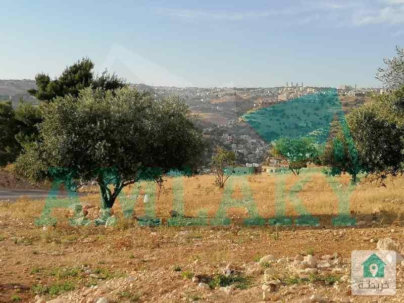 ارض مميزة على شارعين بمنطقة أبو البيادر اطلالة عالية
