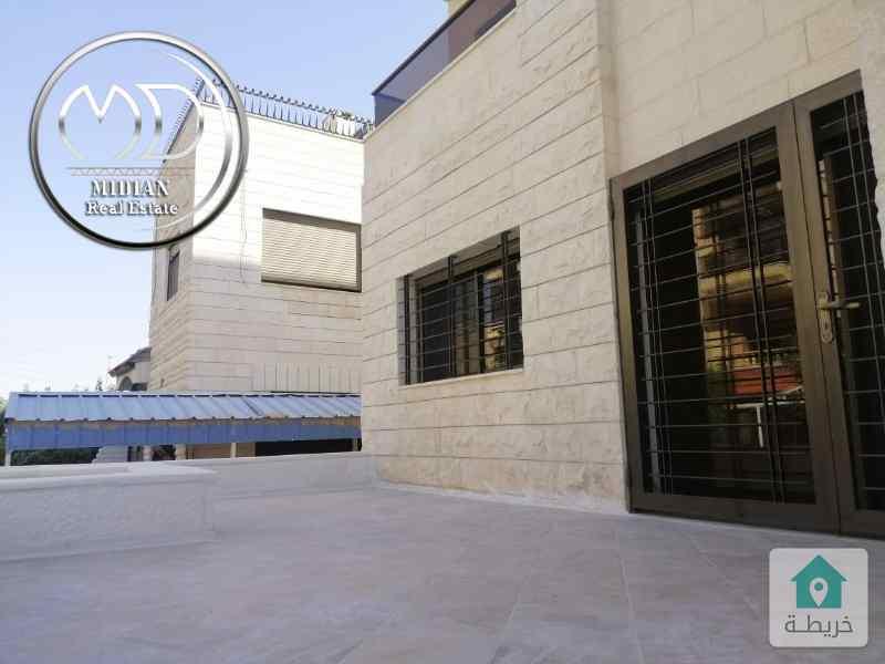 شقة ارضية جديدة للبيع - خلدا قرب ميداس- مساحة 110 م - مع ترس 30م تشطيب سوبرديلوكس .