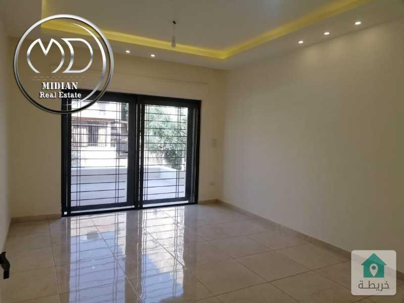 شقة شبه ارضي للبيع - خلدا قرب ميداس- مساحة 110م - مع ترس 20م تشطيب سوبرديلوكس .