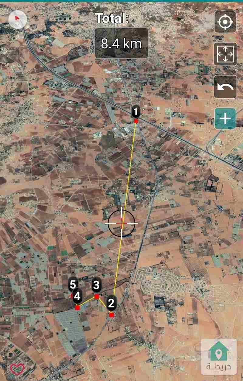 ارض زراعيه مقابل كمباوند الاندلسيه منطقة الخضراء جنوب عمان