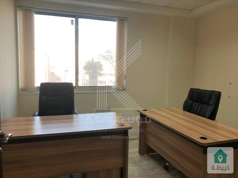مكتب مفروش للايجار في ام السماق