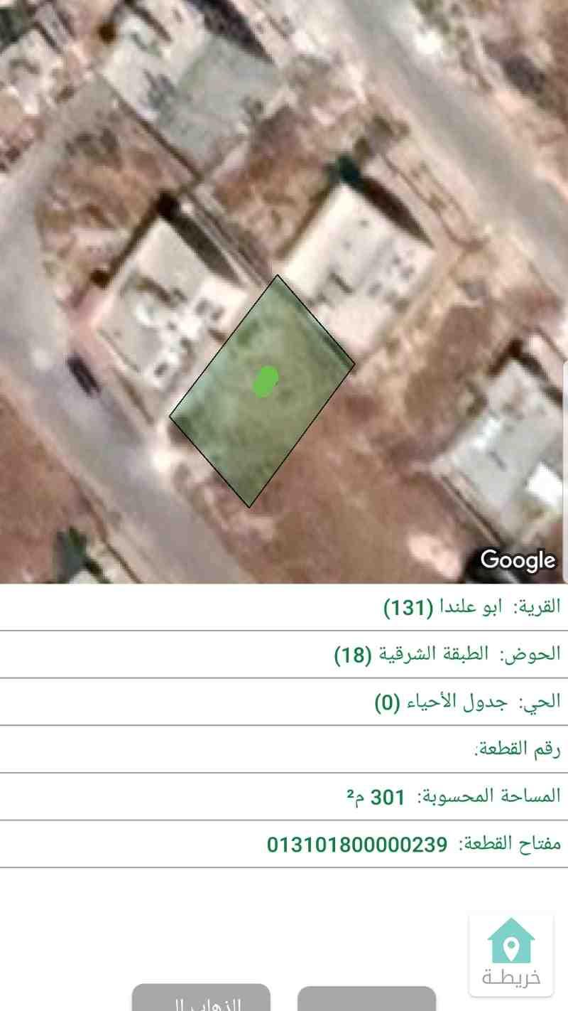 ابوعلندا المستنده ارض 300م سكن د