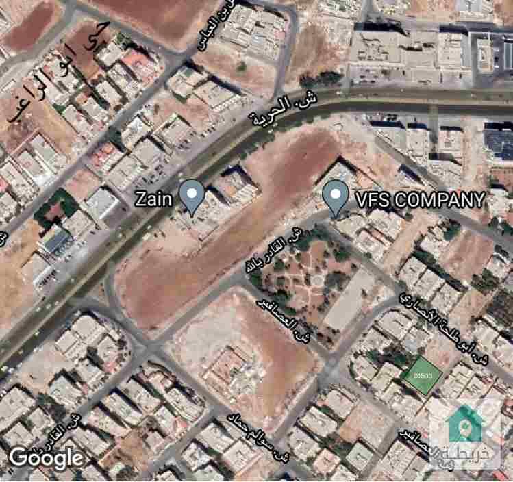 من المالك للبيع ارض مرتفعه و مطله مقابل حي ابو الراغب خلف شركة زين