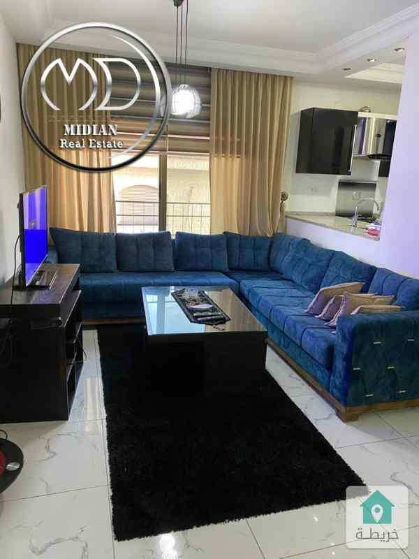 شقة مفروشة للايجار السابع مساحة 90م طابق ثالث تشطيب سوبر ديلوكس .