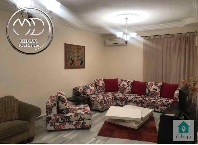 شقة مفروشة للايجار خلدا مساحة 120م طابق اول بسعر مميز .