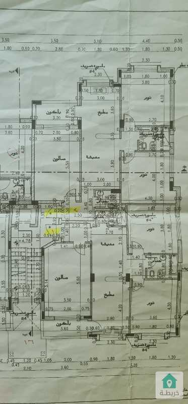 شقتين أرضي للبيع في ضاحية الياسمين- ربوة عبدون (210 متر مربع)