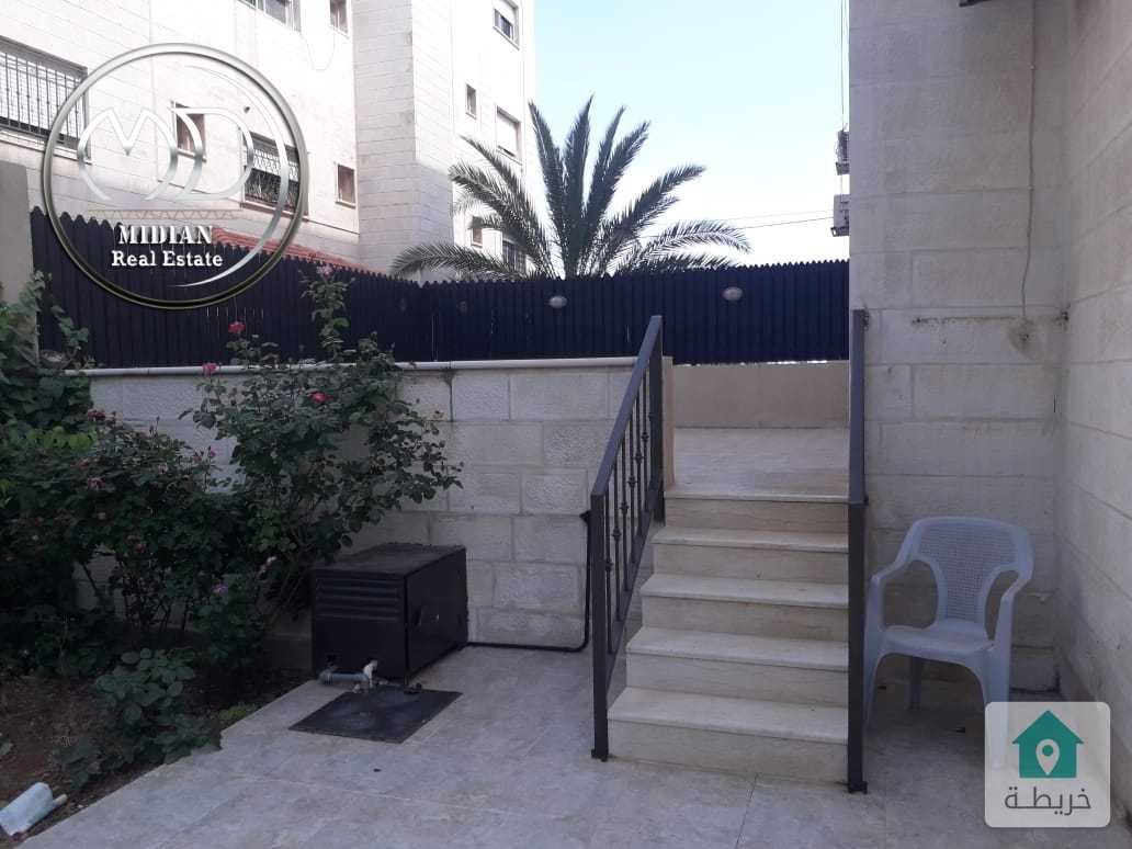 شقة ارضية مفروشة للايجار خلدا مساحة 190م مع حديقه 150م سوبر ديلوكس