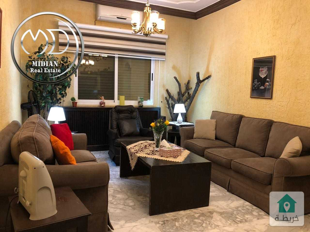 شقة مفروشة للايجار خلدا قرب الرضوان طابق ثاني مساحة 190م سوبر ديلوكس