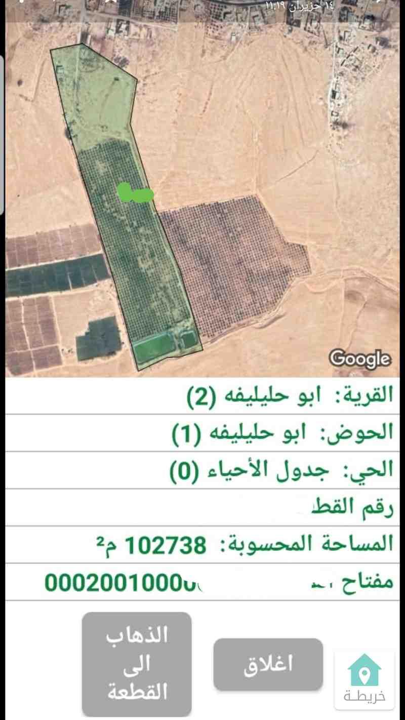 طريق المطار ابوحليليفه مزرعه 170دنم وبير ماء