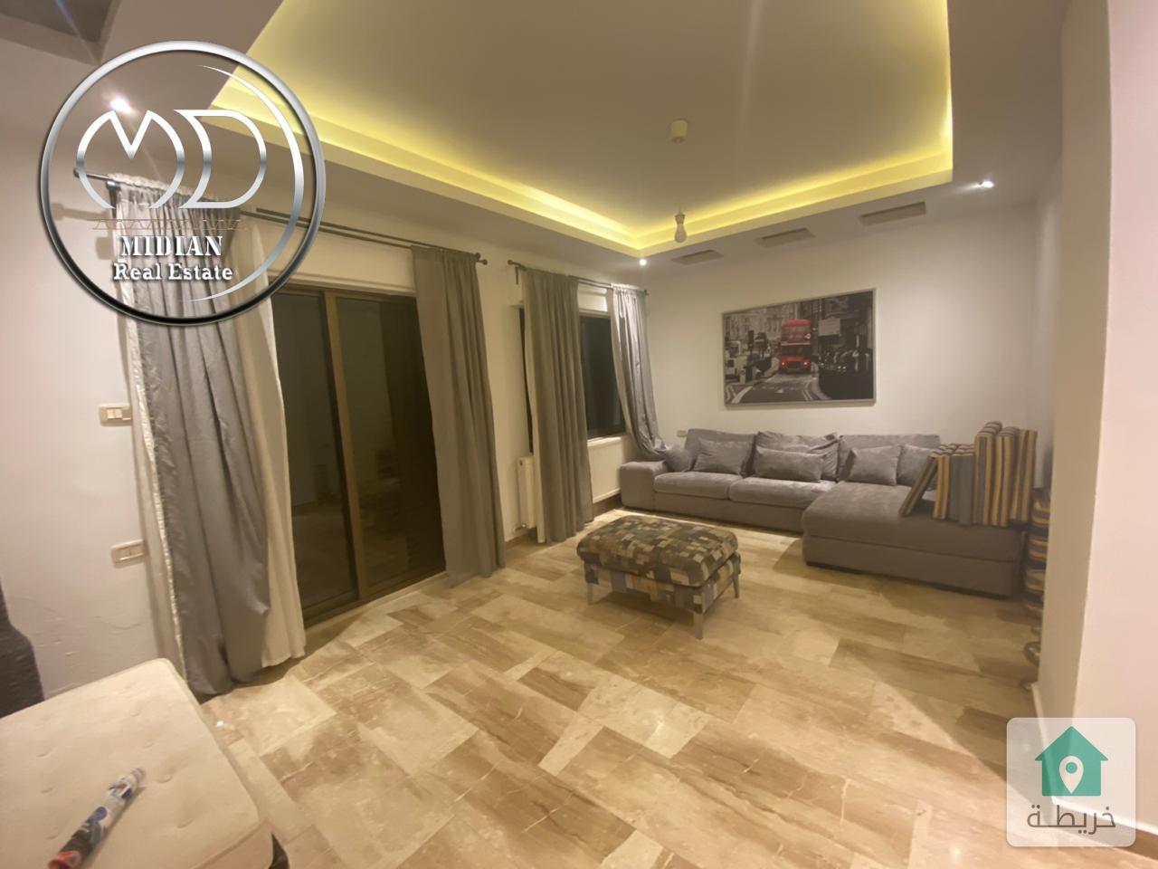 شقة شبه ارضي مفروشة للايجار دابوق مساحة 150م مع ترس 60م سوبر ديلوكس