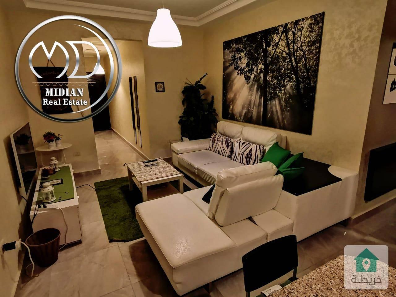 شقة مفروشة للايجار السابع مساحة 90م طابق ثاني سوبر ديلوكس