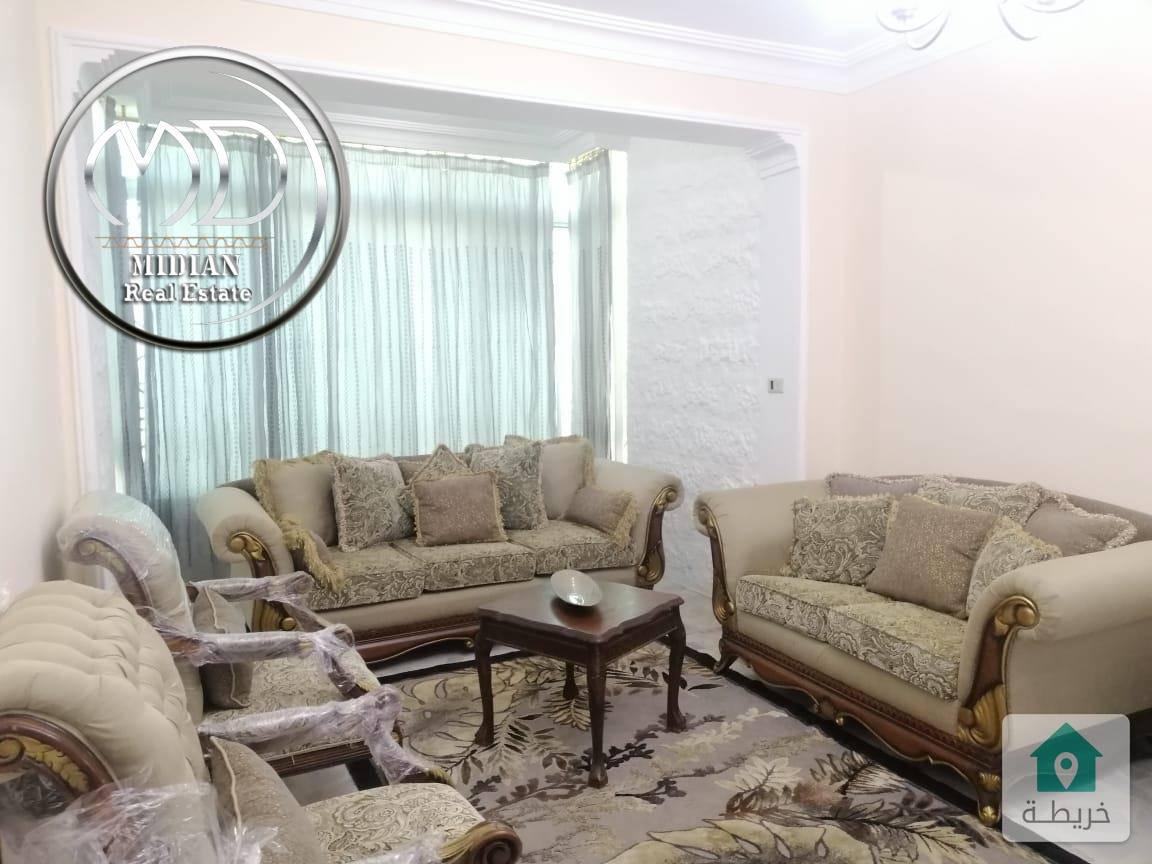 شقة مفروشة للايجار ام السماق مساحة 175م طابق ثالث سوبر ديلوكس
