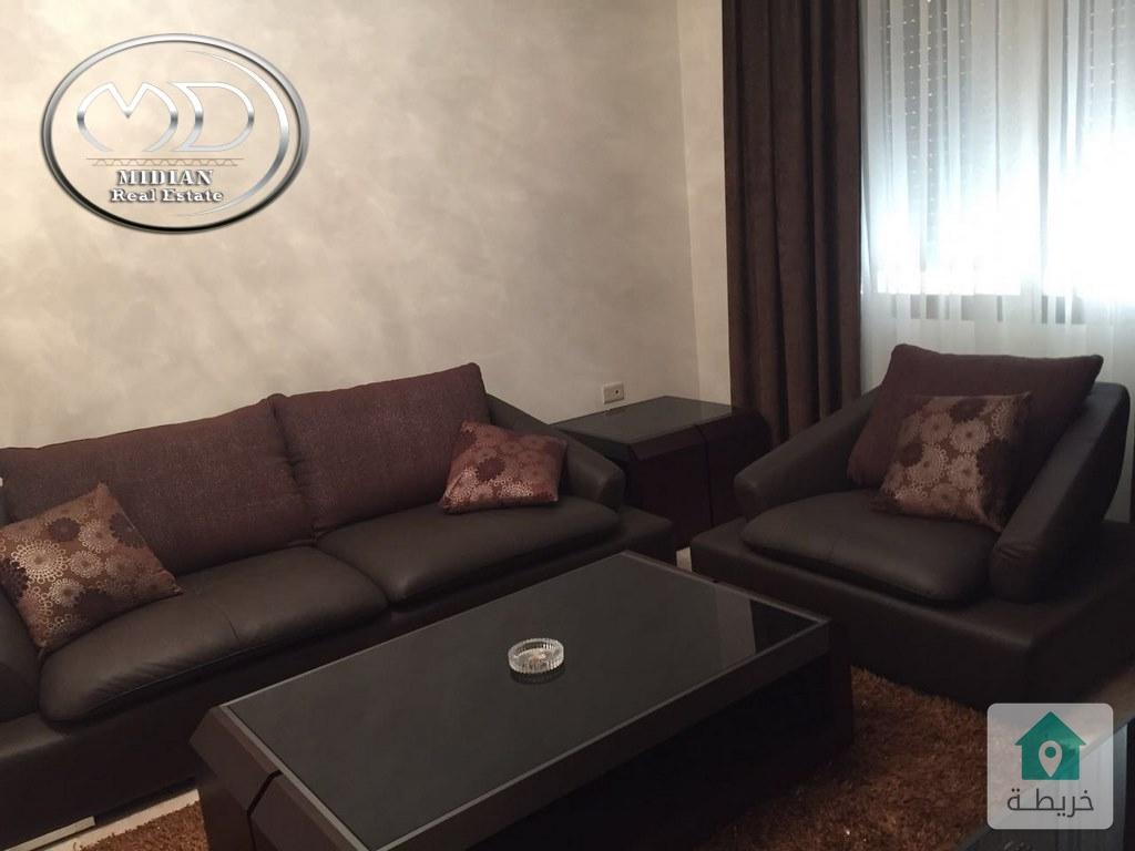 شقة او استديو مفروش فاخر للايجار في السابع خلف جنيفا 50م قرب الخدمات