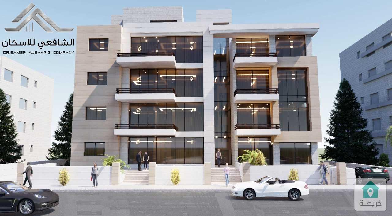 شقة طابق ارضي مدخل مستقل مساحة ( 165)م مع ترس 31 م