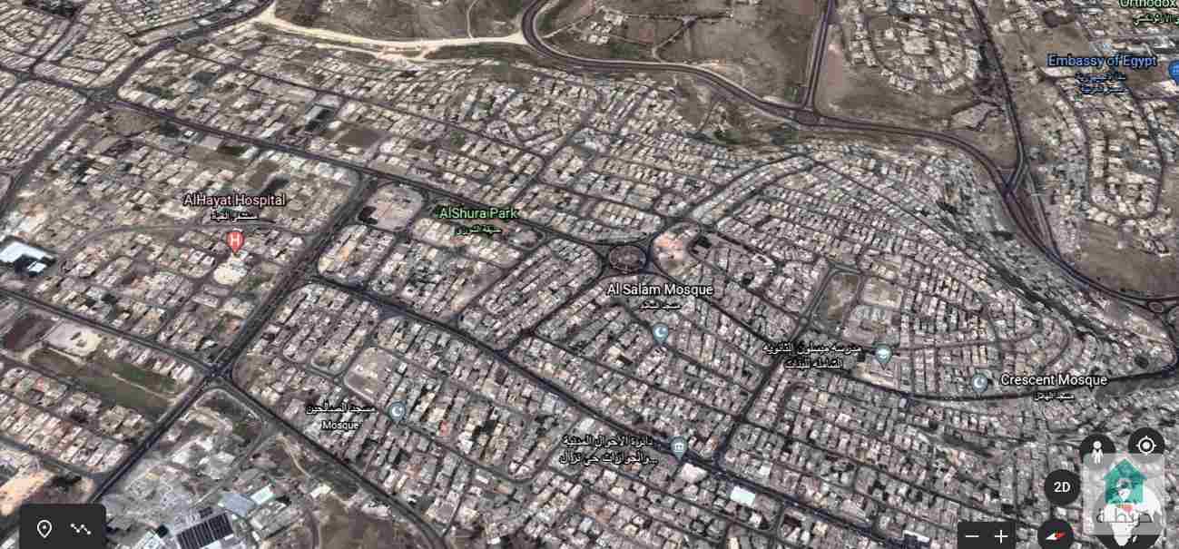 قطعة أرض تجارية مميزة للبيع في الذراع الغربي حي نزال  2014